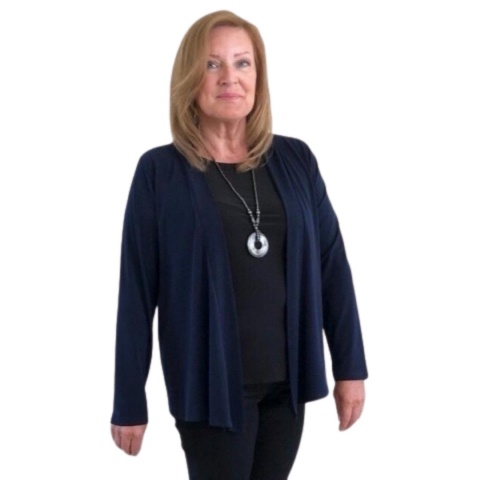 Saloos Navy Jacket with Necklace