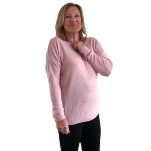 LV Clothing  Dusky Pink Supersoft  Jumper