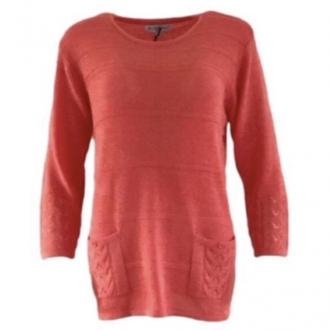 Mudflower Coral Pocket Jumper