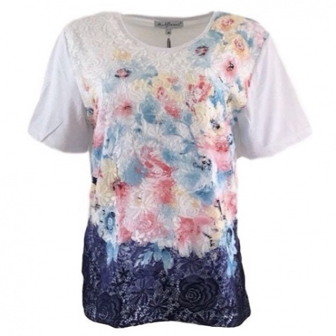 Mudflower Coral Floral T-Shirt