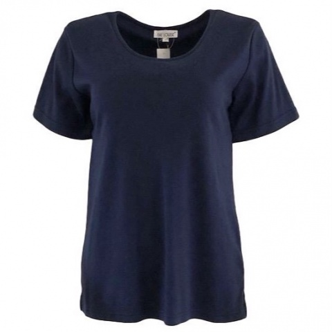 Fay Louise Navy Embroidered T-Shirt