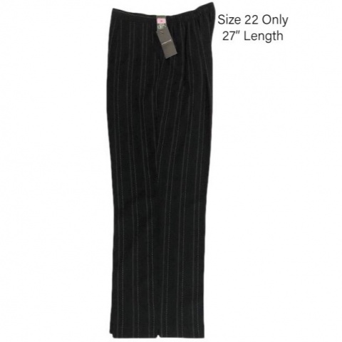 Forever Black Pinstripe Trousers