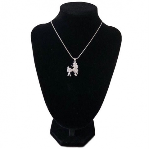Poodle Necklace with Earrings