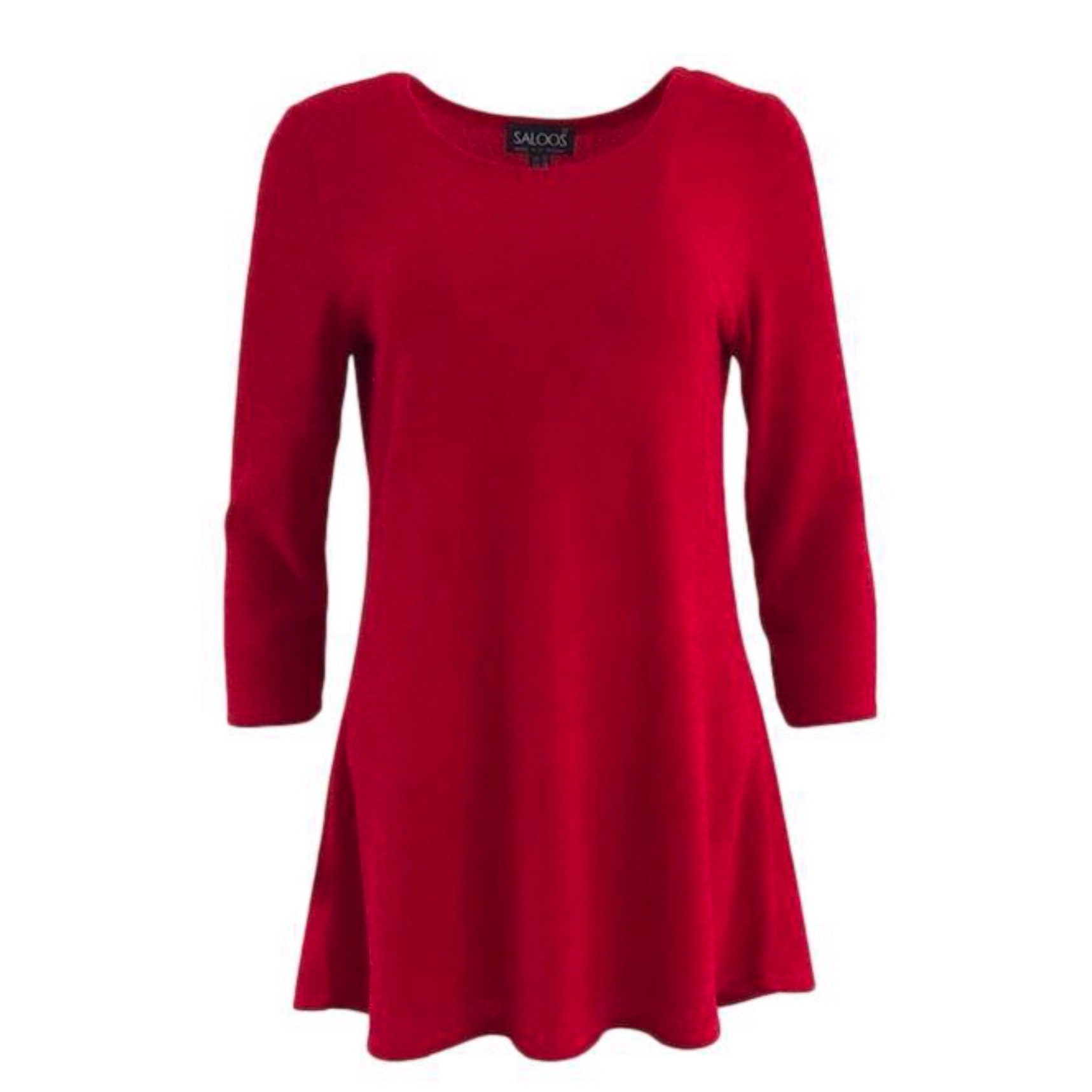 Saloos Red Knitted Tunic Top